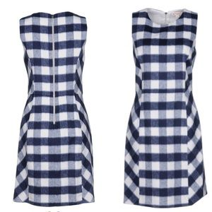 Brooks Brothers Red Fleece Check Sleeveless Dress